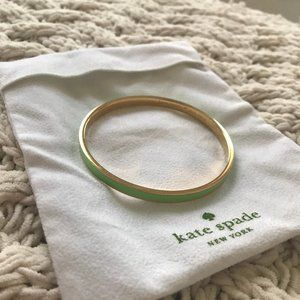 Kate Spade Green Mint Condition Idiom Bracelet